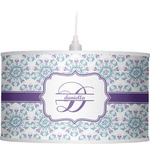 Mandala Floral Drum Pendant Lamp (Personalized)