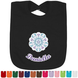 Mandala Floral Baby Bib - 14 Bib Colors (Personalized)