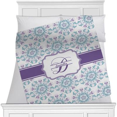 "Mandala Floral Fleece Blanket - 40""x30"" - Single Sided (Personalized)"