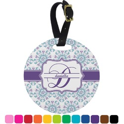 Mandala Floral Round Luggage Tag (Personalized)