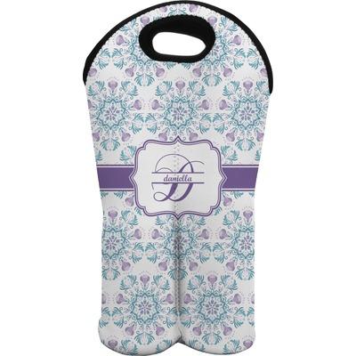 Mandala Floral Wine Tote Bag (2 Bottles) (Personalized)