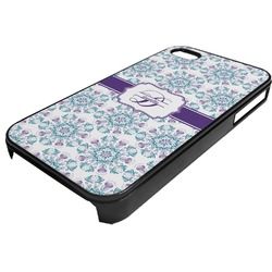 Mandala Floral Plastic 4/4S iPhone Case (Personalized)