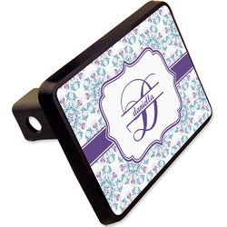 """Mandala Floral Rectangular Trailer Hitch Cover - 2"""" (Personalized)"""