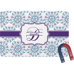 Mandala Floral Rectangular Fridge Magnet (Personalized)