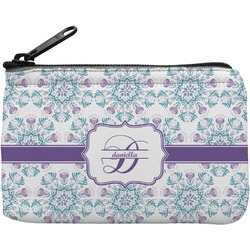 Mandala Floral Rectangular Coin Purse (Personalized)