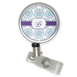 Mandala Floral Retractable Badge Reel (Personalized)