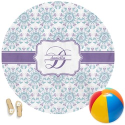 Mandala Floral Round Beach Towel (Personalized)