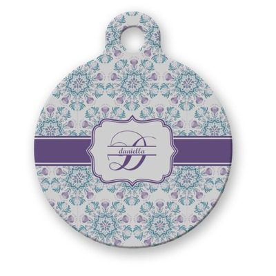 Mandala Floral Round Pet ID Tag (Personalized)