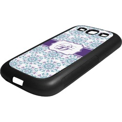 Mandala Floral Rubber Samsung Galaxy 3 Phone Case (Personalized)