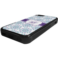 Mandala Floral Rubber iPhone 5C Phone Case (Personalized)
