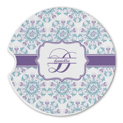 Mandala Floral Sandstone Car Coasters (Personalized)