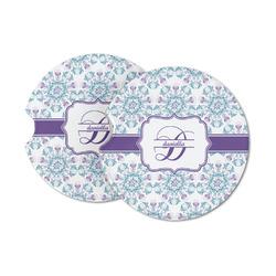 Mandala Floral Sandstone Car Coasters (Personalized)
