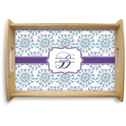 Mandala Floral Natural Wooden Tray (Personalized)