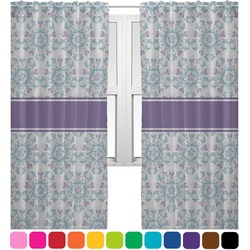 Mandala Floral Sheer Curtains (Personalized)