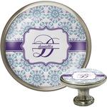 Mandala Floral Cabinet Knob (Silver) (Personalized)