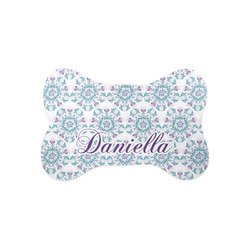 Mandala Floral Bone Shaped Dog Food Mat (Small) (Personalized)