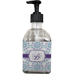 Mandala Floral Soap/Lotion Dispenser (Glass) (Personalized)