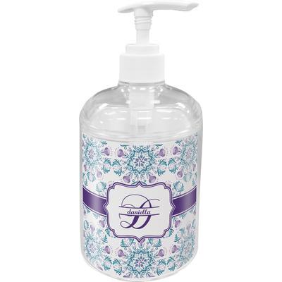 Mandala Floral Acrylic Soap & Lotion Bottle (Personalized)