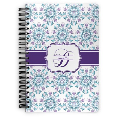 Mandala Floral Spiral Bound Notebook (Personalized)