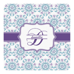 Mandala Floral Square Decal - Custom Size (Personalized)