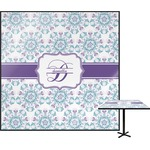 Mandala Floral Square Table Top (Personalized)