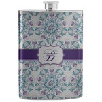 Mandala Floral Stainless Steel Flask (Personalized)