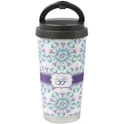 Mandala Floral Stainless Steel Travel Mug (Personalized)