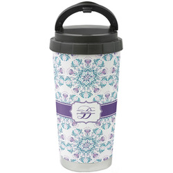 Mandala Floral Stainless Steel Travel Mug (Personalized)