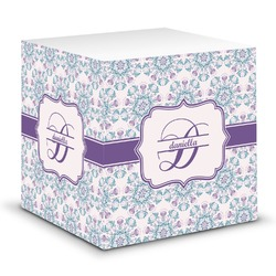 Mandala Floral Sticky Note Cube (Personalized)