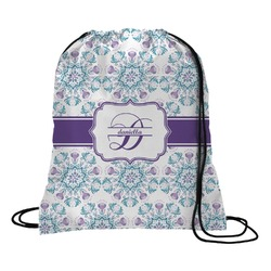Mandala Floral Drawstring Backpack (Personalized)