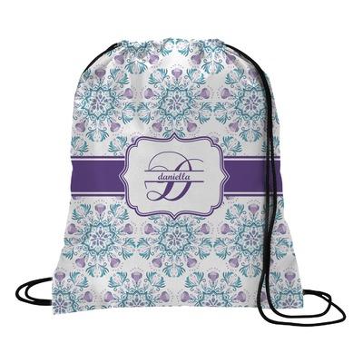 Mandala Floral Drawstring Backpack (Personalized)