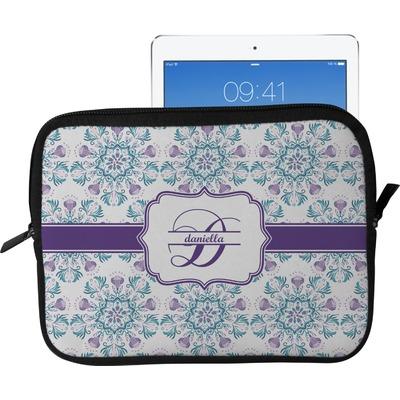 Mandala Floral Tablet Case / Sleeve - Large (Personalized)