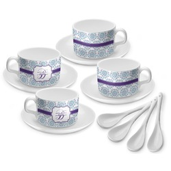 Mandala Floral Tea Cup - Set of 4 (Personalized)