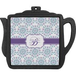 Mandala Floral Teapot Trivet (Personalized)