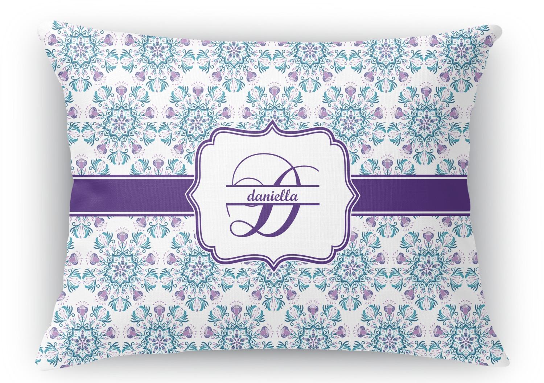 Mandala Floral Rectangular Throw Pillow - 18
