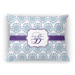 Mandala Floral Rectangular Throw Pillow Case (Personalized)