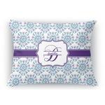 Mandala Floral Rectangular Throw Pillow Case (Personalized)