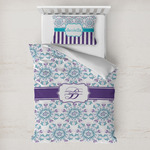 Mandala Floral Toddler Bedding w/ Name and Initial