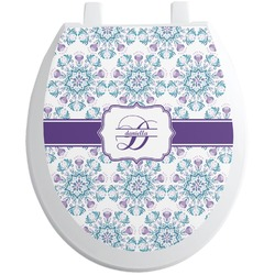 Mandala Floral Toilet Seat Decal (Personalized)