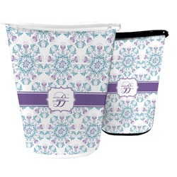Mandala Floral Waste Basket (Personalized)