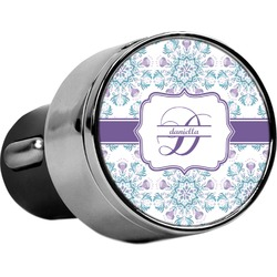 Mandala Floral USB Car Charger (Personalized)