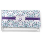Mandala Floral Vinyl Checkbook Cover (Personalized)