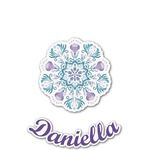 Mandala Floral Graphic Decal - Custom Sized (Personalized)