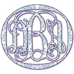 Mandala Floral Monogram Decal - Custom Sized (Personalized)