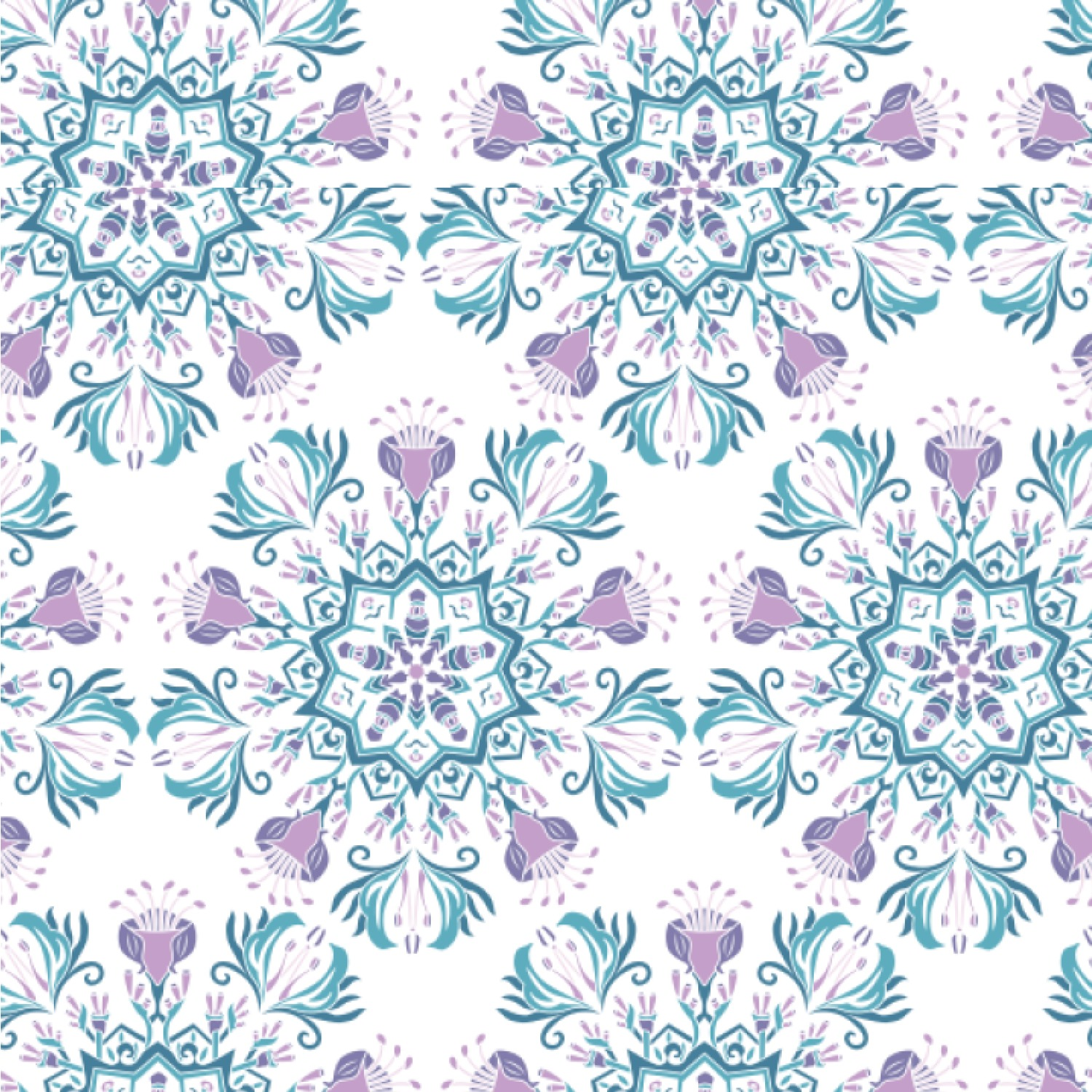 Mandala Floral Wallpaper & Surface Covering (Water Activated 24\