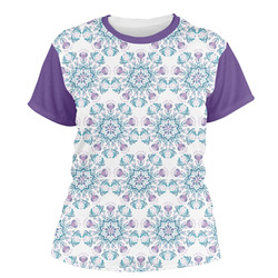 Mandala Floral Women's Crew T-Shirt (Personalized)