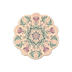 Mandala Floral Genuine Wood Sticker (Personalized)