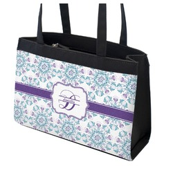 Mandala Floral Zippered Everyday Tote (Personalized)