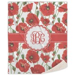 Poppies Sherpa Throw Blanket (Personalized)