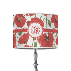 """Poppies 8"""" Drum Lamp Shade - Poly-film (Personalized)"""